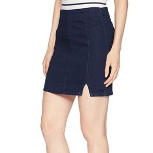 Free People mid rise Denim Mini Skirt with Cut Out